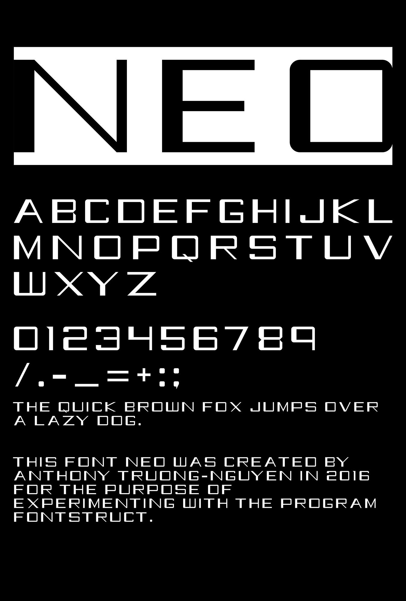 Typography I: Type Specimen Poster