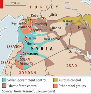 ISIS-PKK-Turkey Conflict Map as of October 4