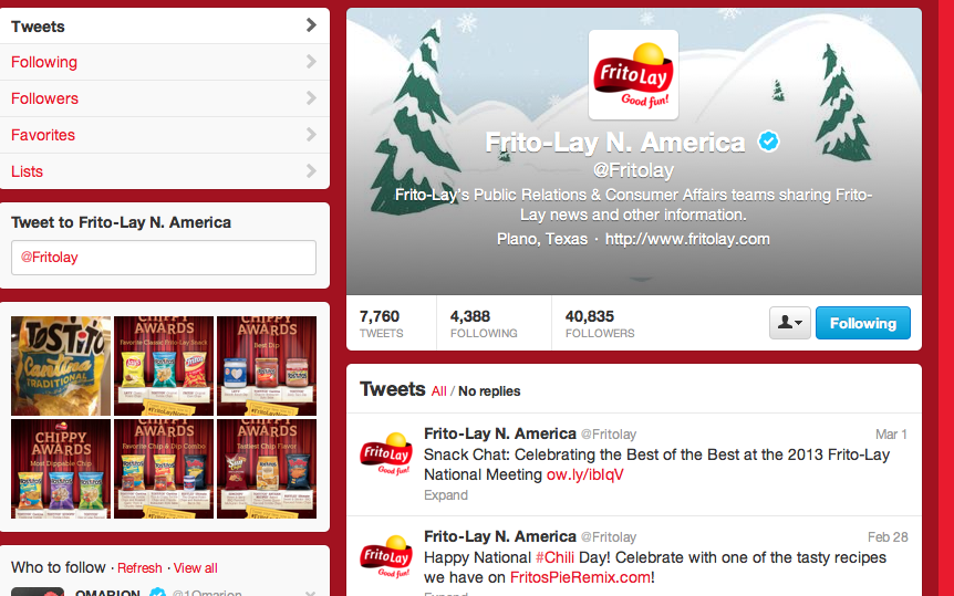 frito lay target audience Frito-lay, inc is an american and 30 percent of the non-us market frito-lay north america accounts for became the target of lobbying efforts from.