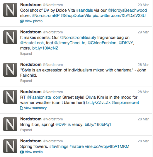 the nordstrom twitter account is home to 55 870 tweets 232 604 ...