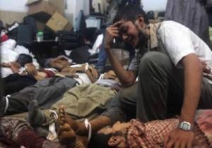 """Image: Rows of the dead Source: Al-Abd, Rania Rabih. """"Egypt: Tales of Death at Zeinhom Morgue."""" Al-Akhbar English. Al-Akhbar, 24 Aug. 2013. Web. 11 Dec. 2013."""
