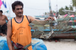 Man Displays Crab Trap