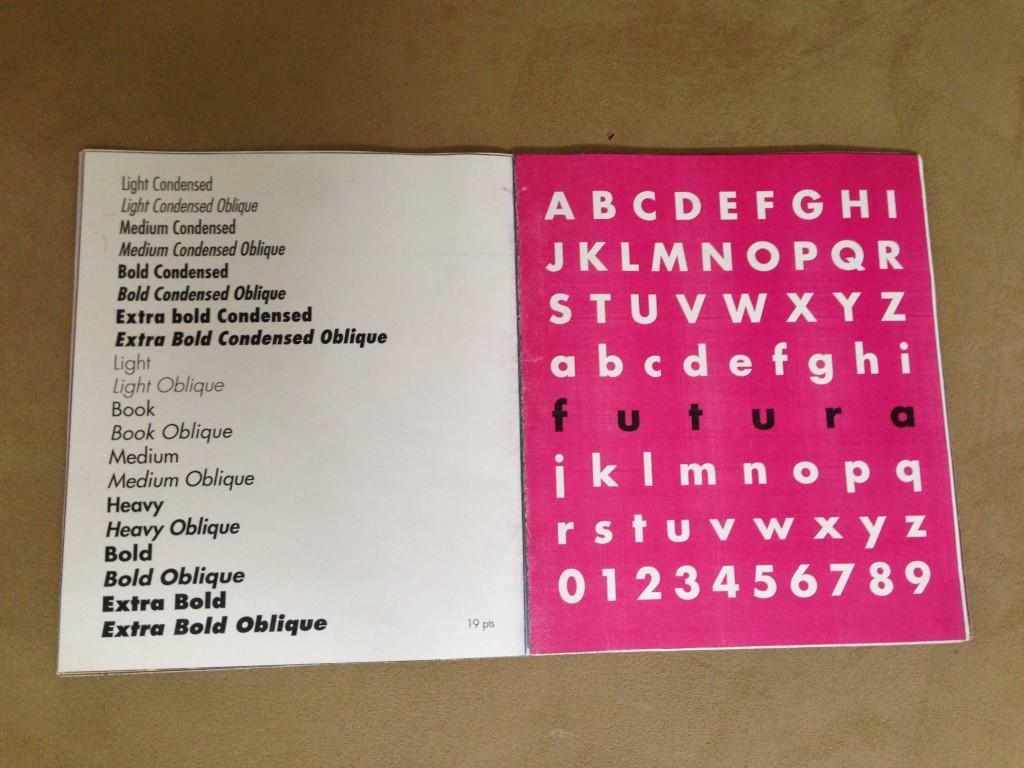 Type Specimen Book: Futura   Denisse Cuesta Design Portfolio
