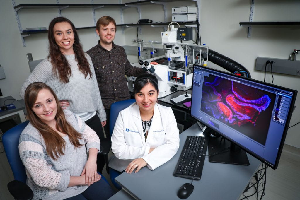 The Cortes research team at the Duke Center for Neurodegeneration and Neurotherapeutics.
