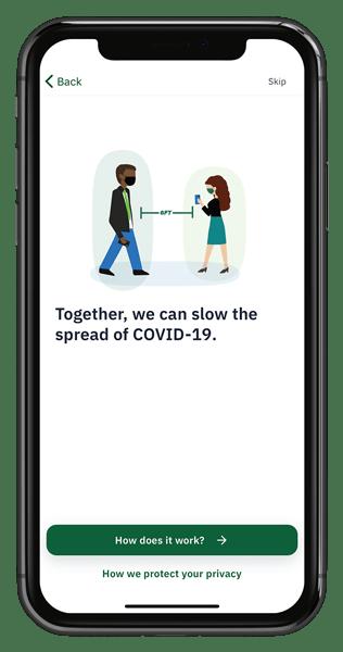 screenshot of get started message