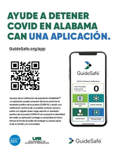 ayude a detener covid en alabama can una aplicación