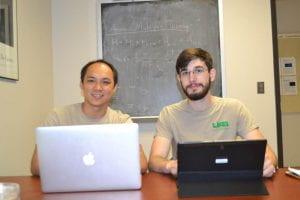 Brandon Scoggins (r) with Faculty MentorCheng-Chien Chen