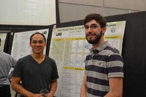 REU Brandon Scoggins (r) with Faculty Mentor Cheng-Chien Chen (Physics_