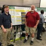 REU Cameron Hale with REU Mentor Dr. Robert Mohr (Physics/Astronomy)