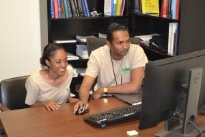 Morgan Matthews with Faculty Mentor Kannatassen Appavoo
