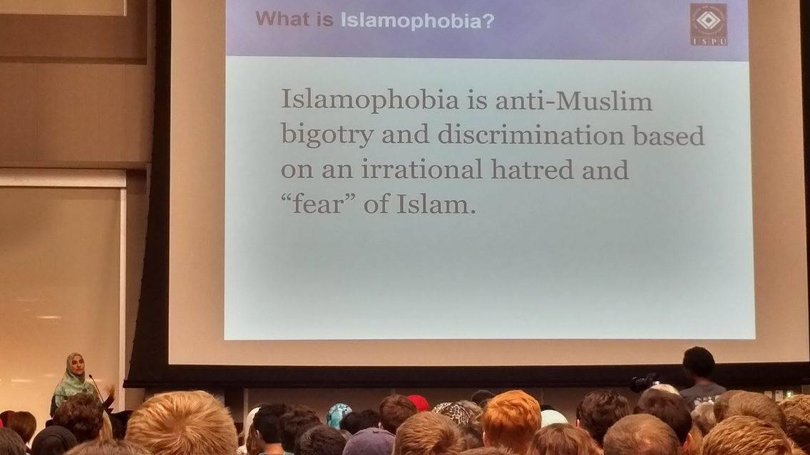 Islamophobia lecture.