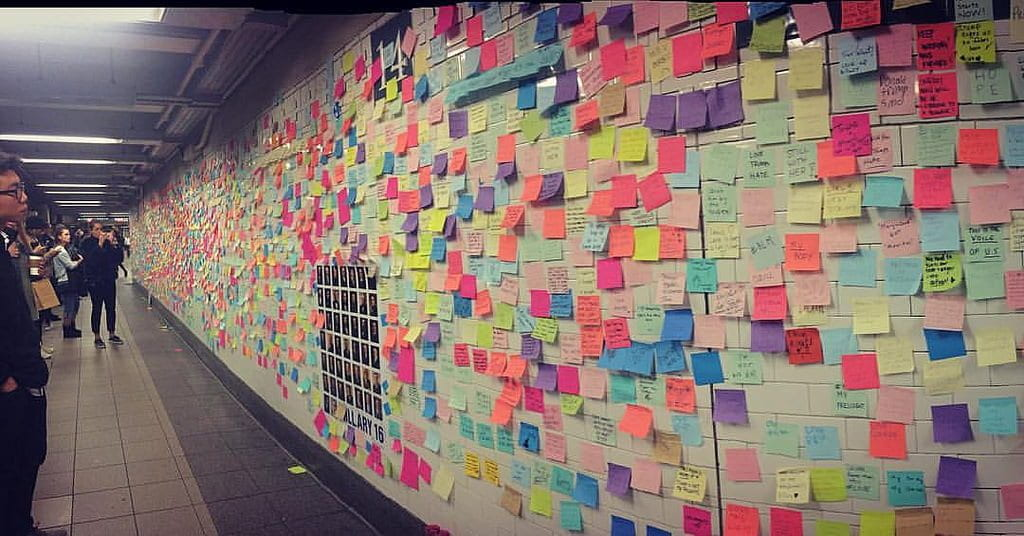 Subway post-it notes. Source: Cait Stewart, Creative Commons.