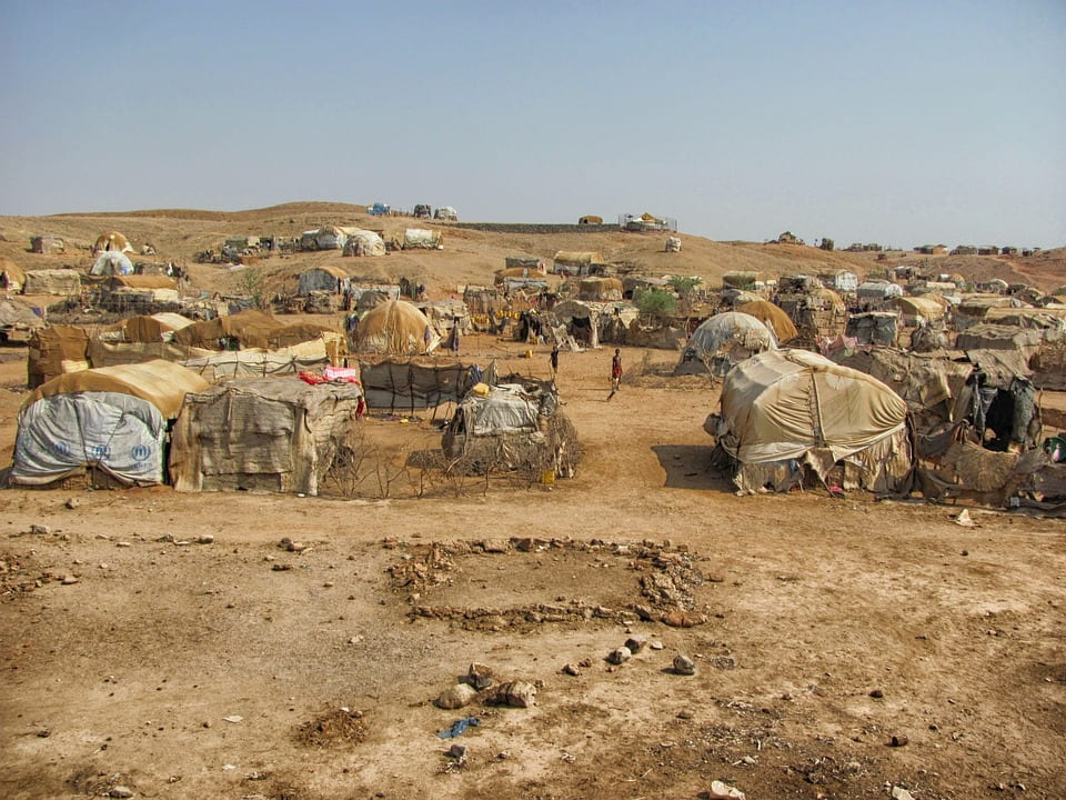 Refugee Camp. Source: tpsdave, Creative Commons.