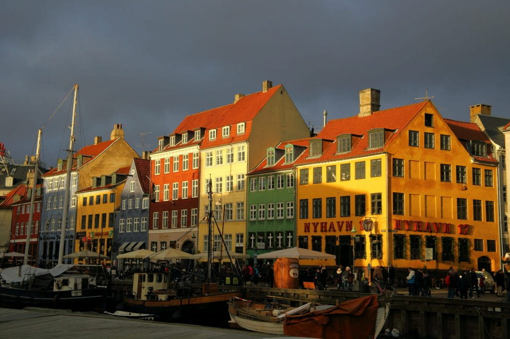 a picture entitled The Colour before the storm... Nyhavn, copenhagen
