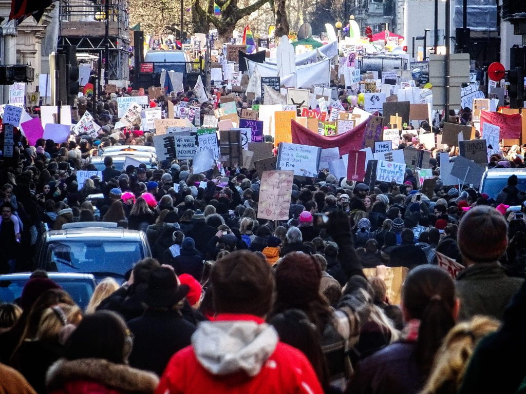 picture of Women's March in London 2017