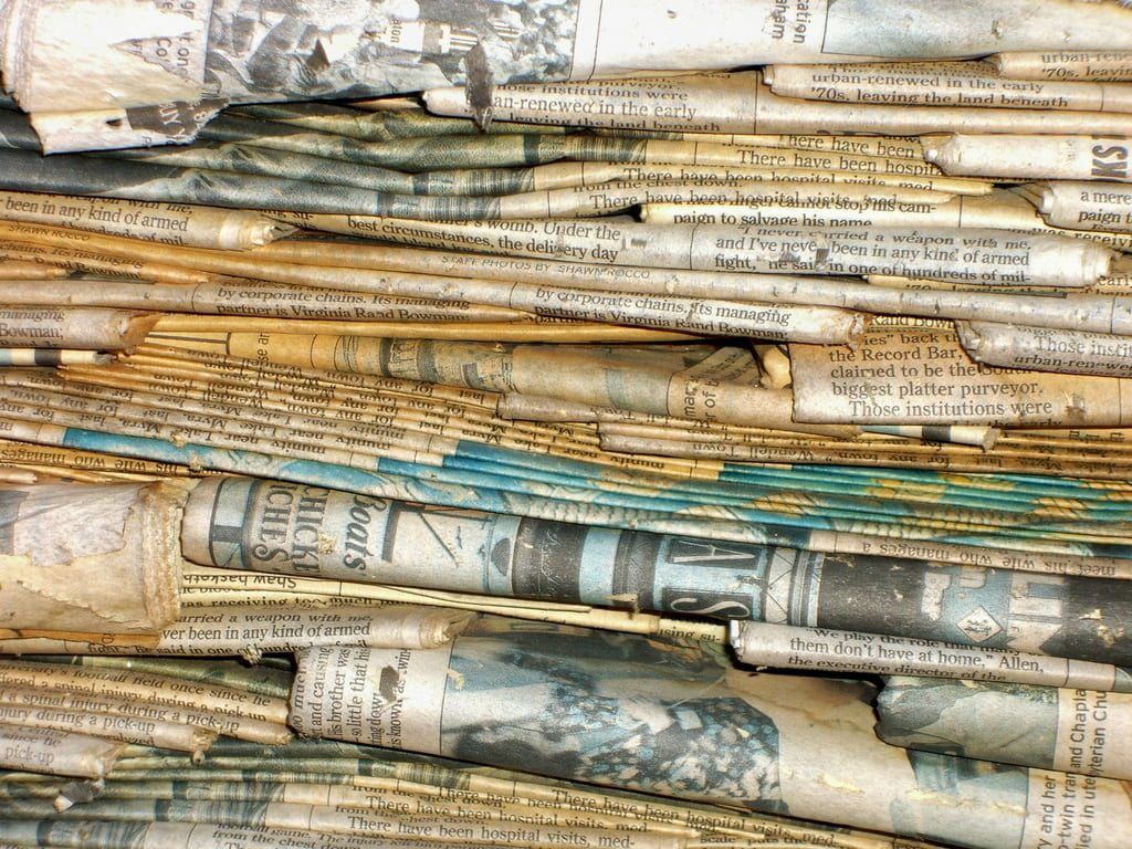 a picture of a stack of newspapers