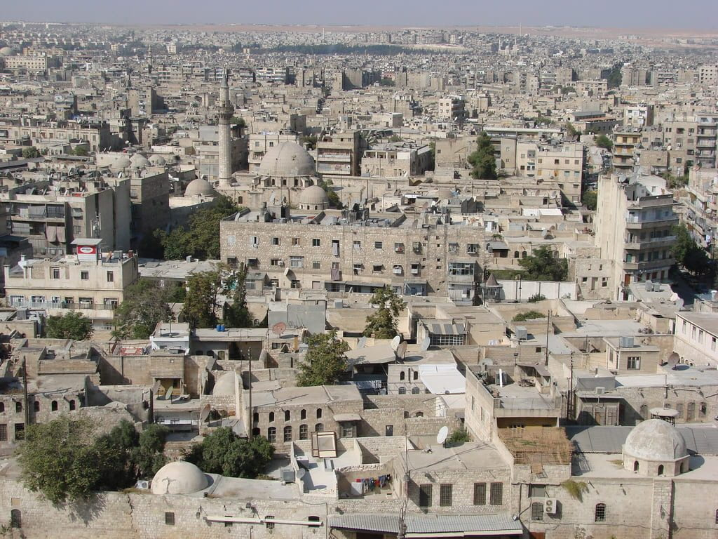 Aleppo A view of Aleppo, Syria from above. It's a real concrete jungle.
