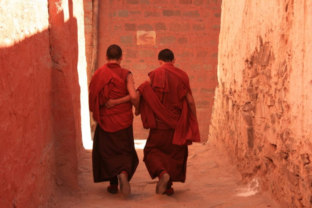 a picture of Tibetan monks