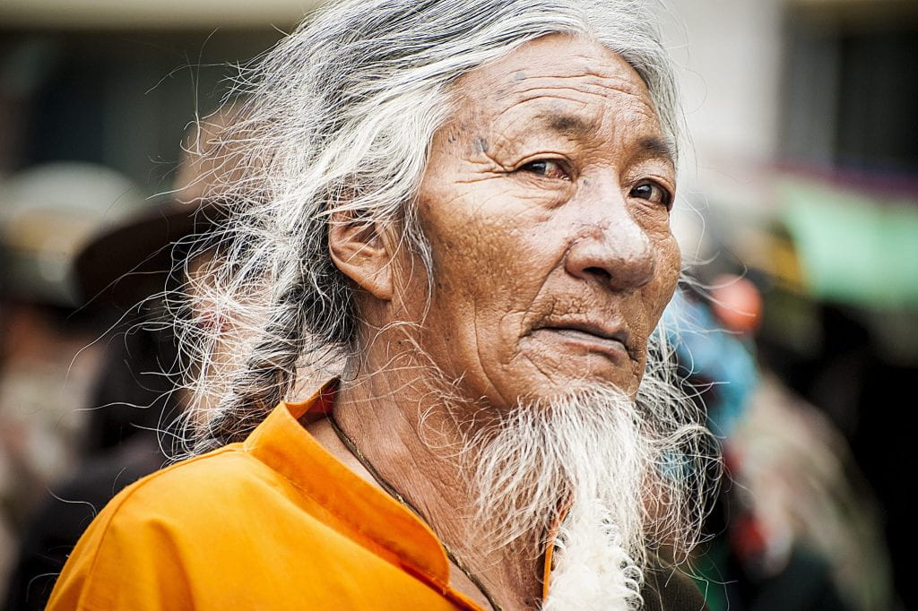 a picture of a Tibetan Lhasa man
