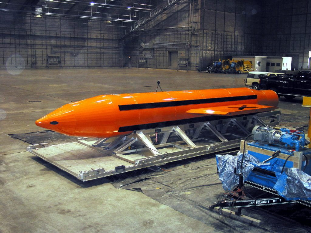 a picture of the MOAB bomb