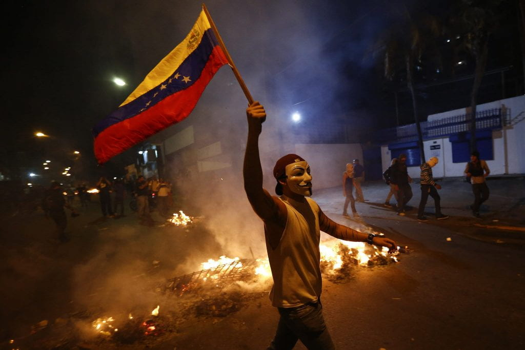 a picture of a Venezuelan protester