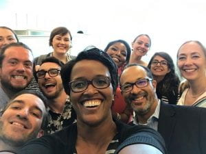 a group selfie of the UAB IHR and IDPP team from American University