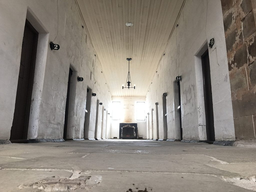 a picture of the inside of Port Arthur Prison