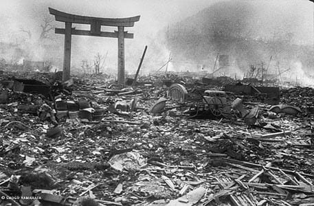 Nagasaki Journey. Picture taken by Yosuke Yamahata on August 10, 1945, the day after the bombing of Nagasaki.
