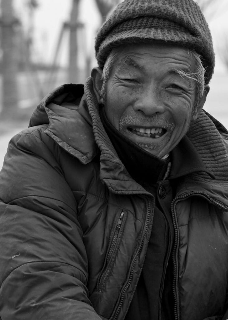a portrait of a Chinese farmer