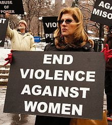 a protest for violence against women