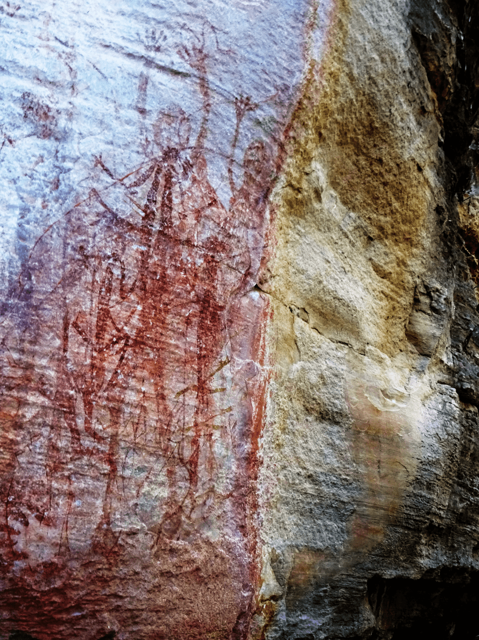 Aboriginal rock art depicting a communal celebration