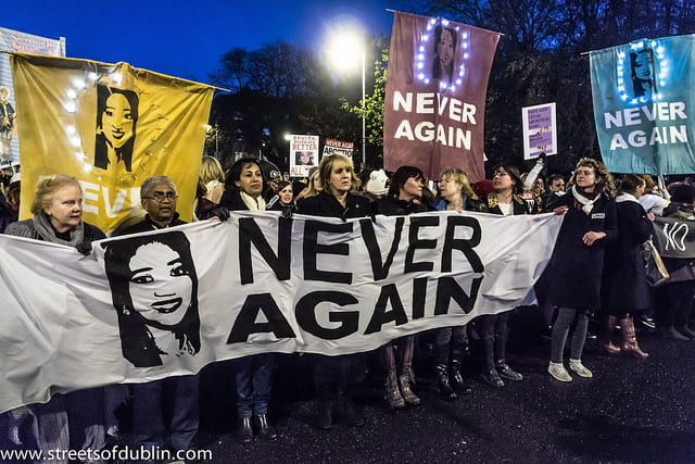 About Ten Thousand People Attended A Rally In Dublin In Memory Of Savita Halappanavar. Source: William Murphy, Creative Commons.