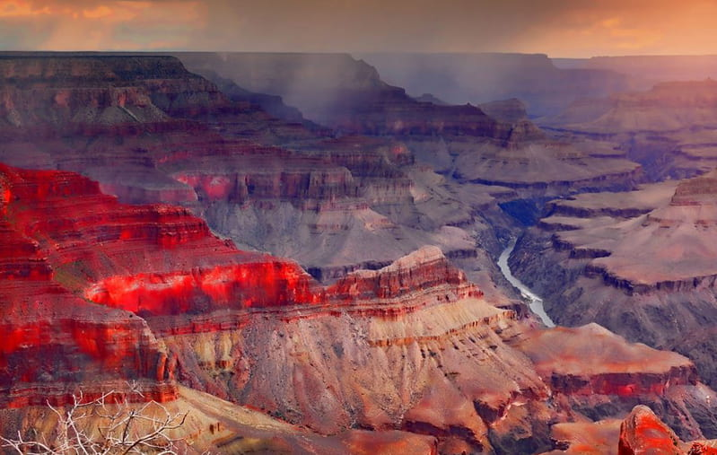 a picture of the Grand Canyon. It is a UNESCO site