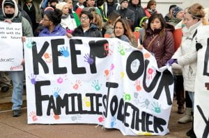 Families fighting against forced separation