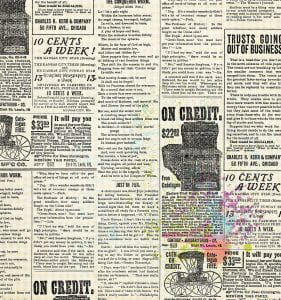 Vintage newspaper ads from mid 20th century newspaper