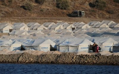 Fires and COVID-19 Race Through Lesvos Migrant Camp