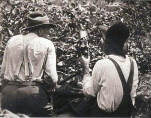 miners with machine gun