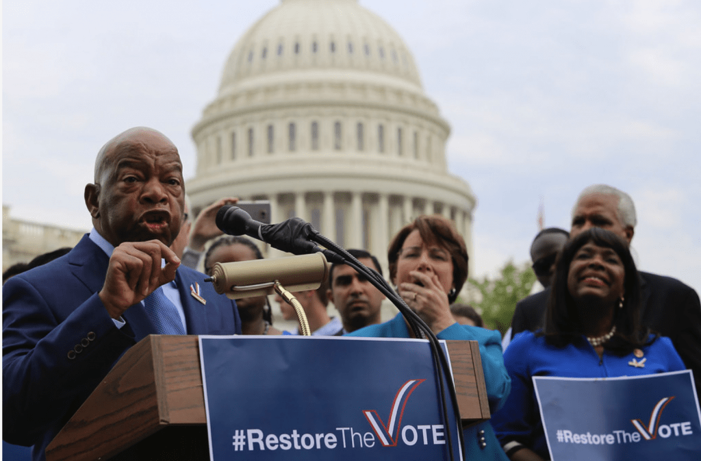 House Democrats advocating for the restoration of Section 5 of The Voting Rights Act