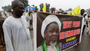 A peaceful procession of the IMN for the release of Zakzaky. Source: Yahoo Images.