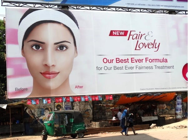 advertisement for a skin whitening cream