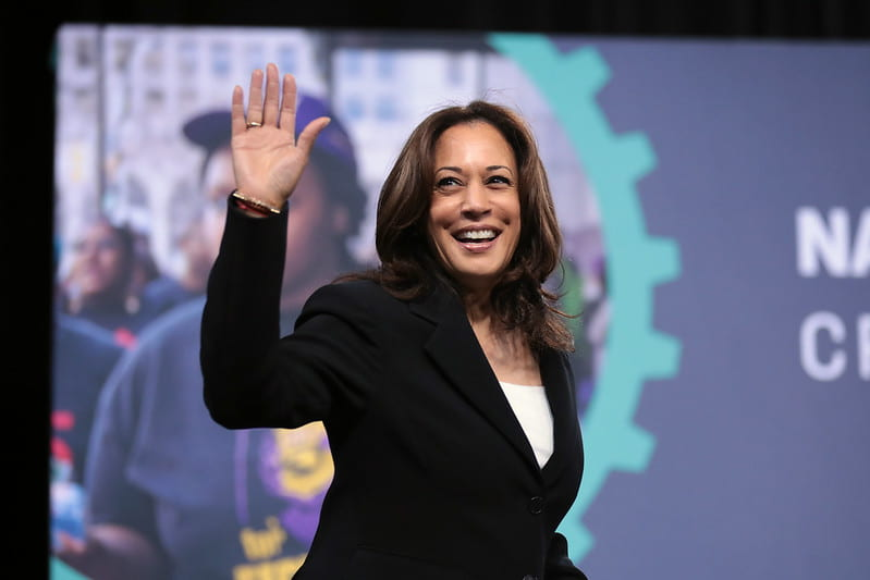 Kamala Harris at a rally