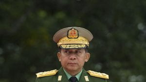 Min Aung Hlaing in military uniform