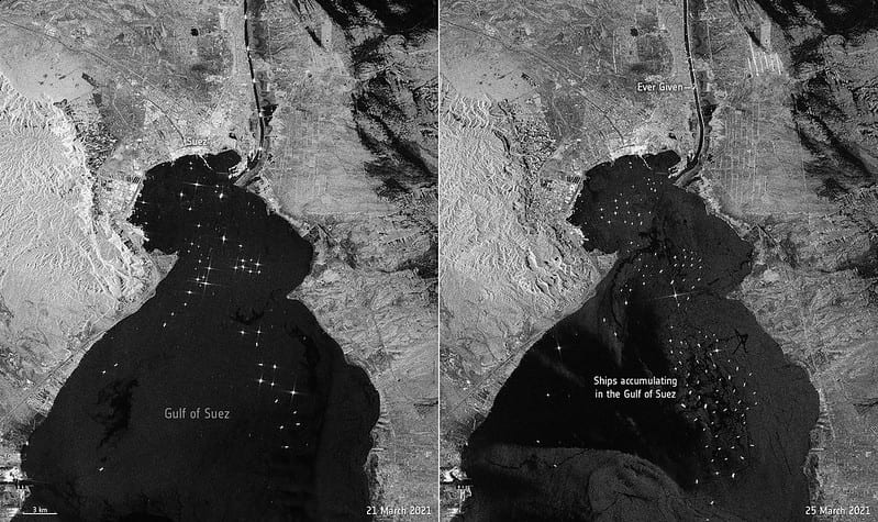 evergiven blockage in the suez canal