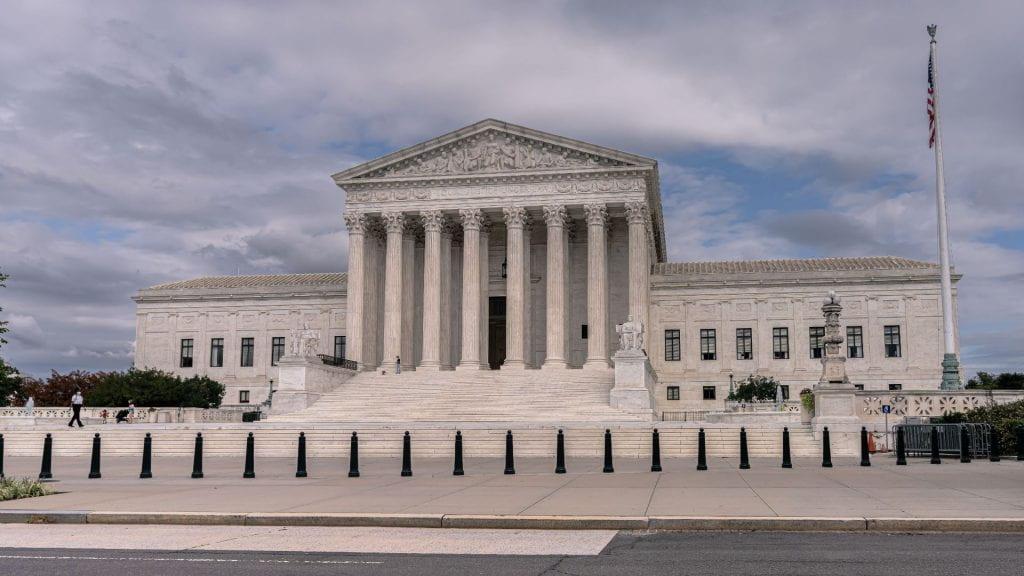 Historic Supreme Court building in Washington, D.C. pictured