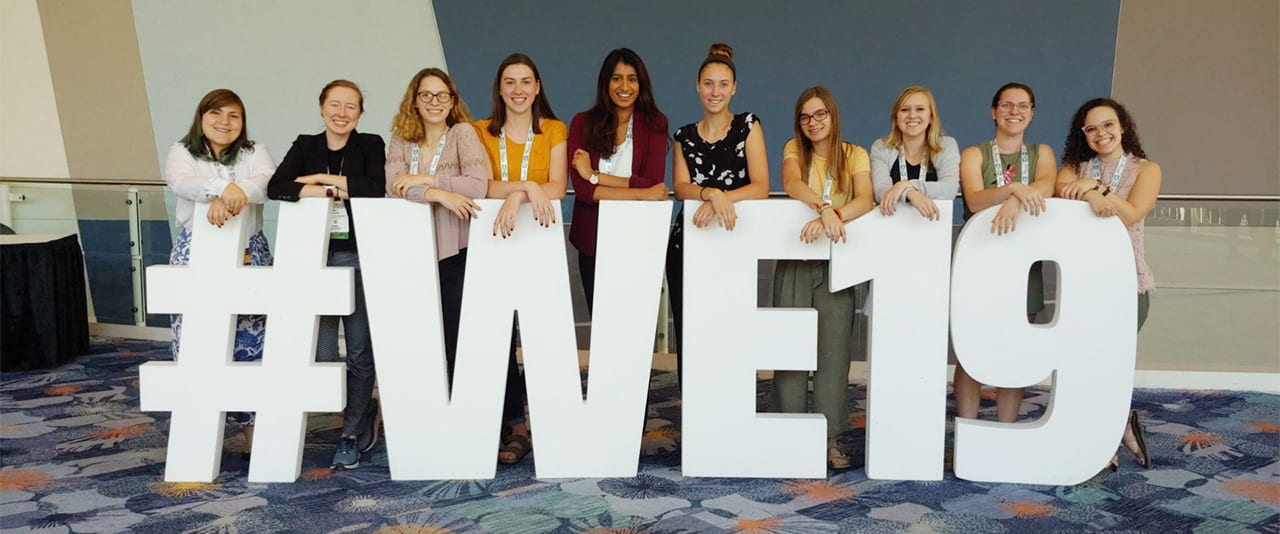 Women Engineers at a 2019 conference