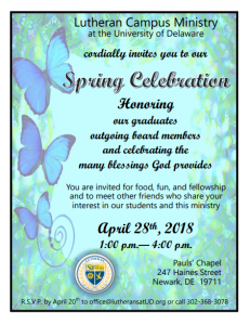 Click the flyer below for more information about our annual spring celebratio!