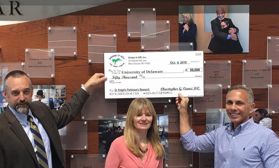 Shake It Off Supports UD Parkinson's Research