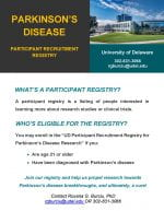 UD Launches a Registry for PD Research