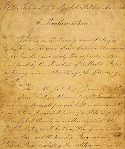 And I hereby enjoin upon the people so declared to be free to abstain    Emancipation Proclamation Speech