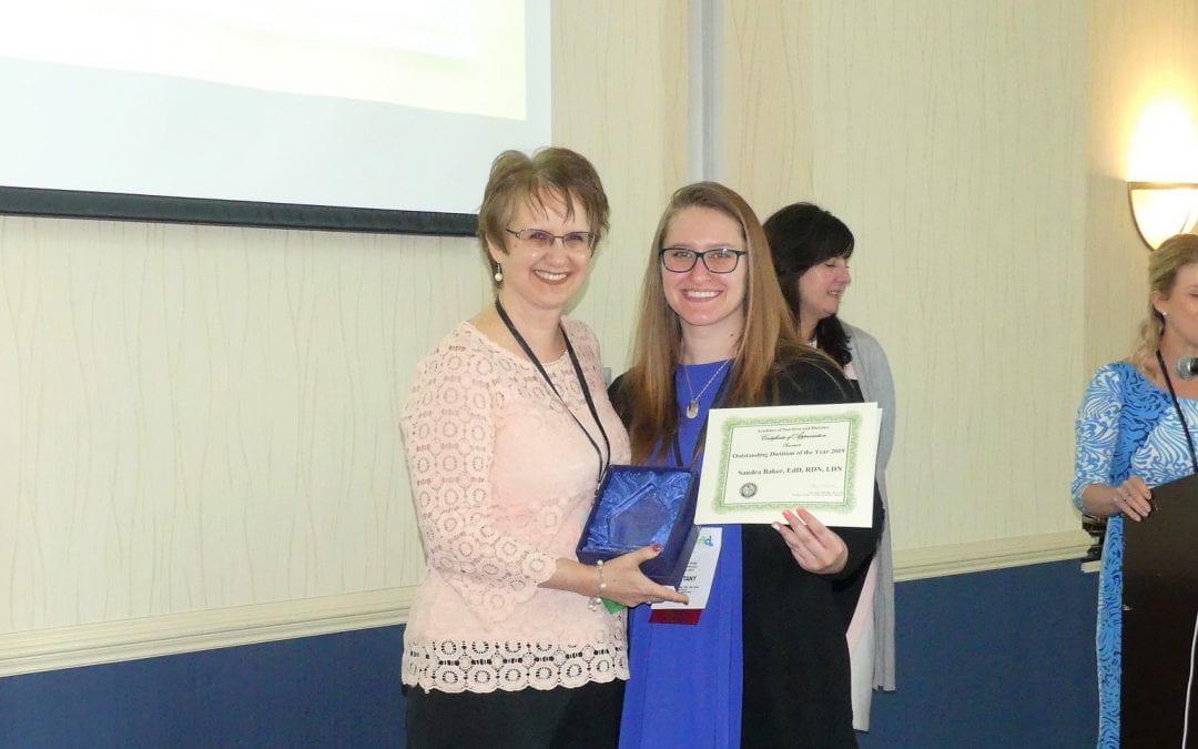 Dr. Sandy Baker Wins DAND Award!